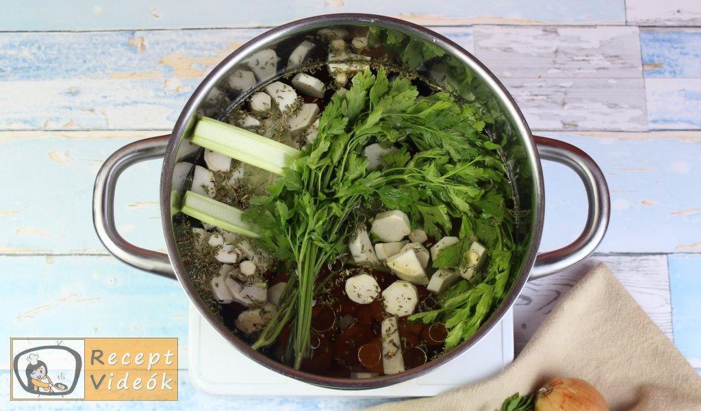 zöldségleves recept, zöldségleves elkészítése 3. lépés