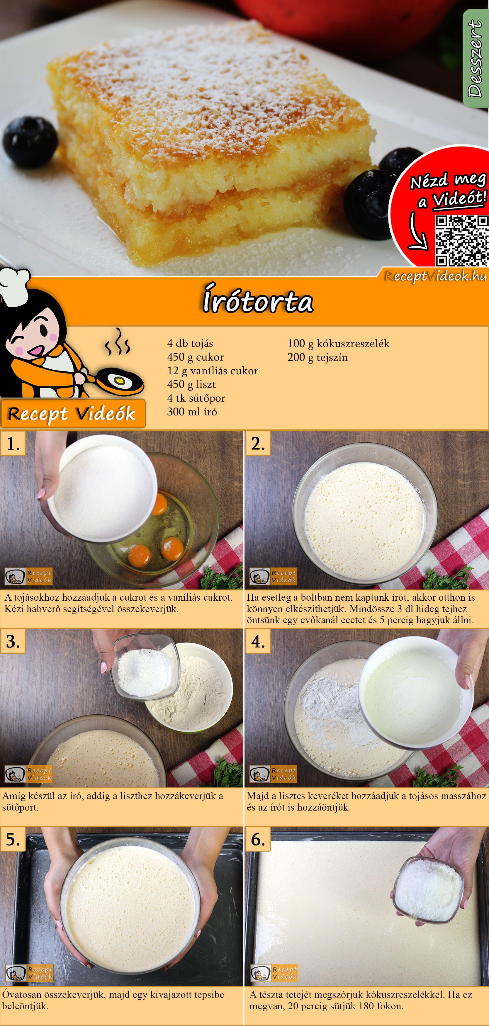 Írótorta recept elkészítése videóval