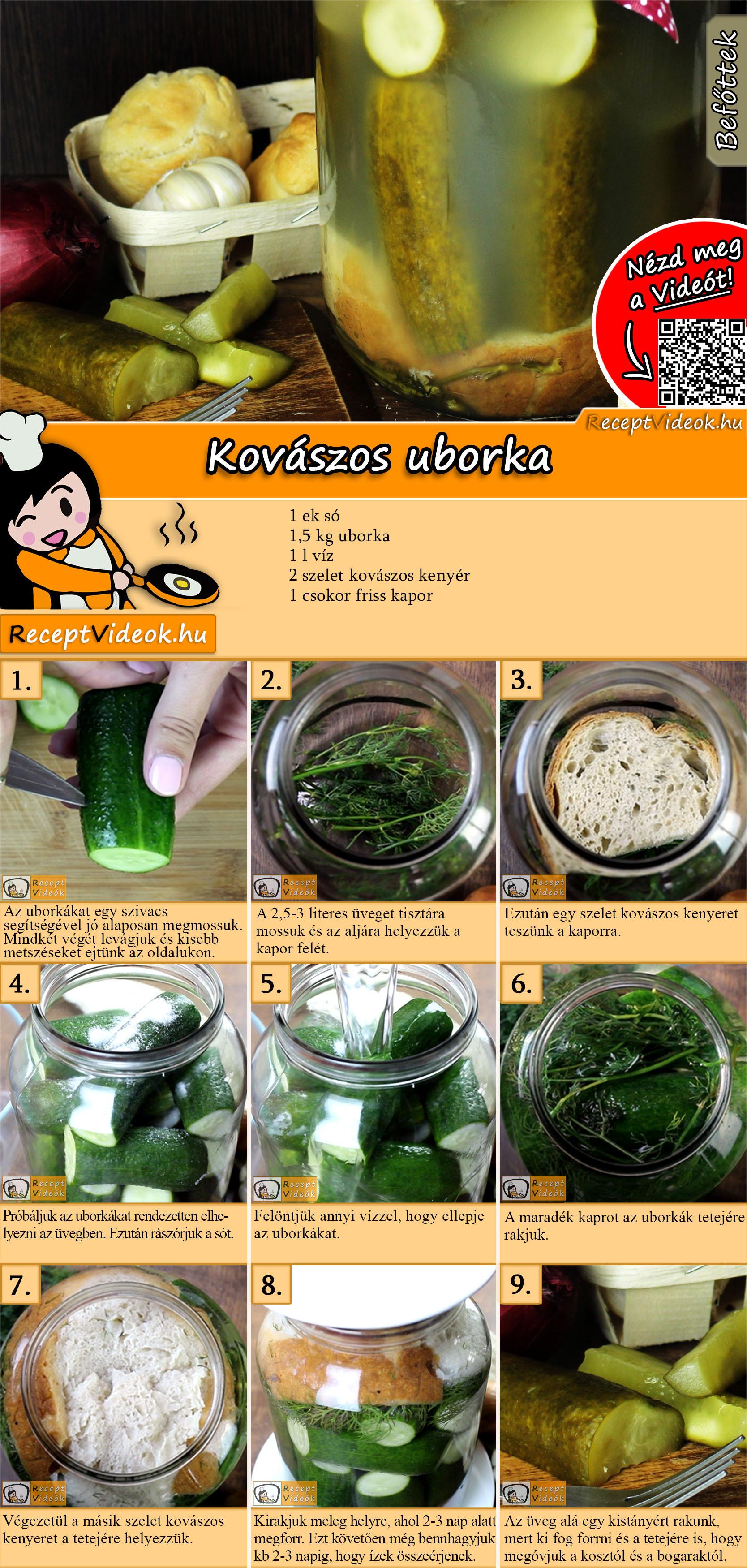 Kovászos uborka recept elkészítése videóval