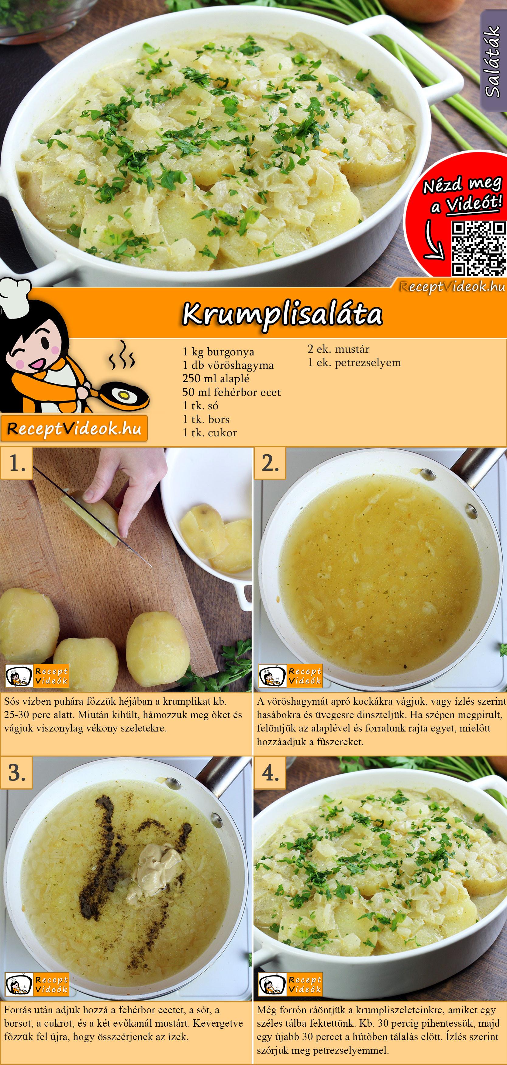 Krumplisaláta recept elkészítése videóval