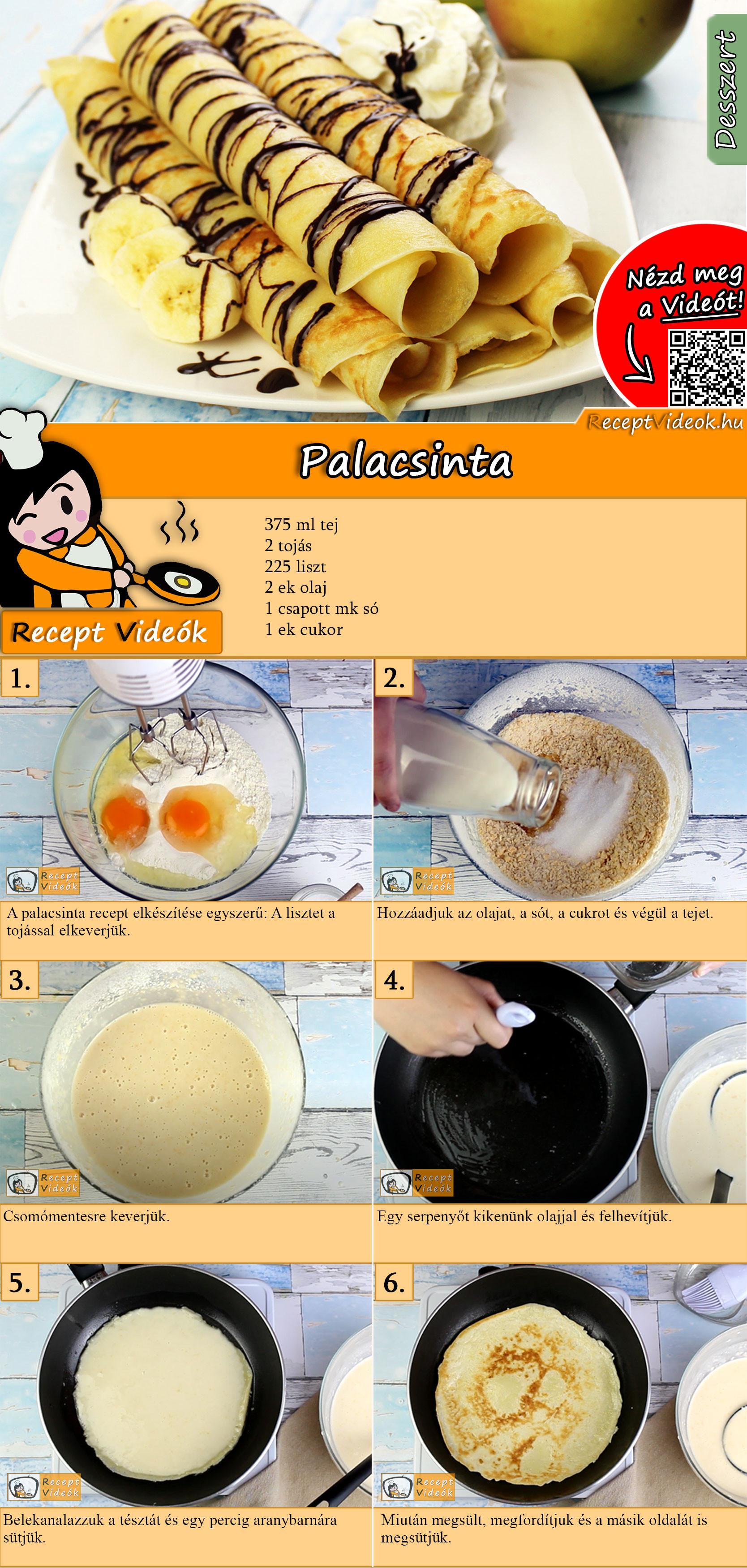 Palacsinta recept elkészítése videóval