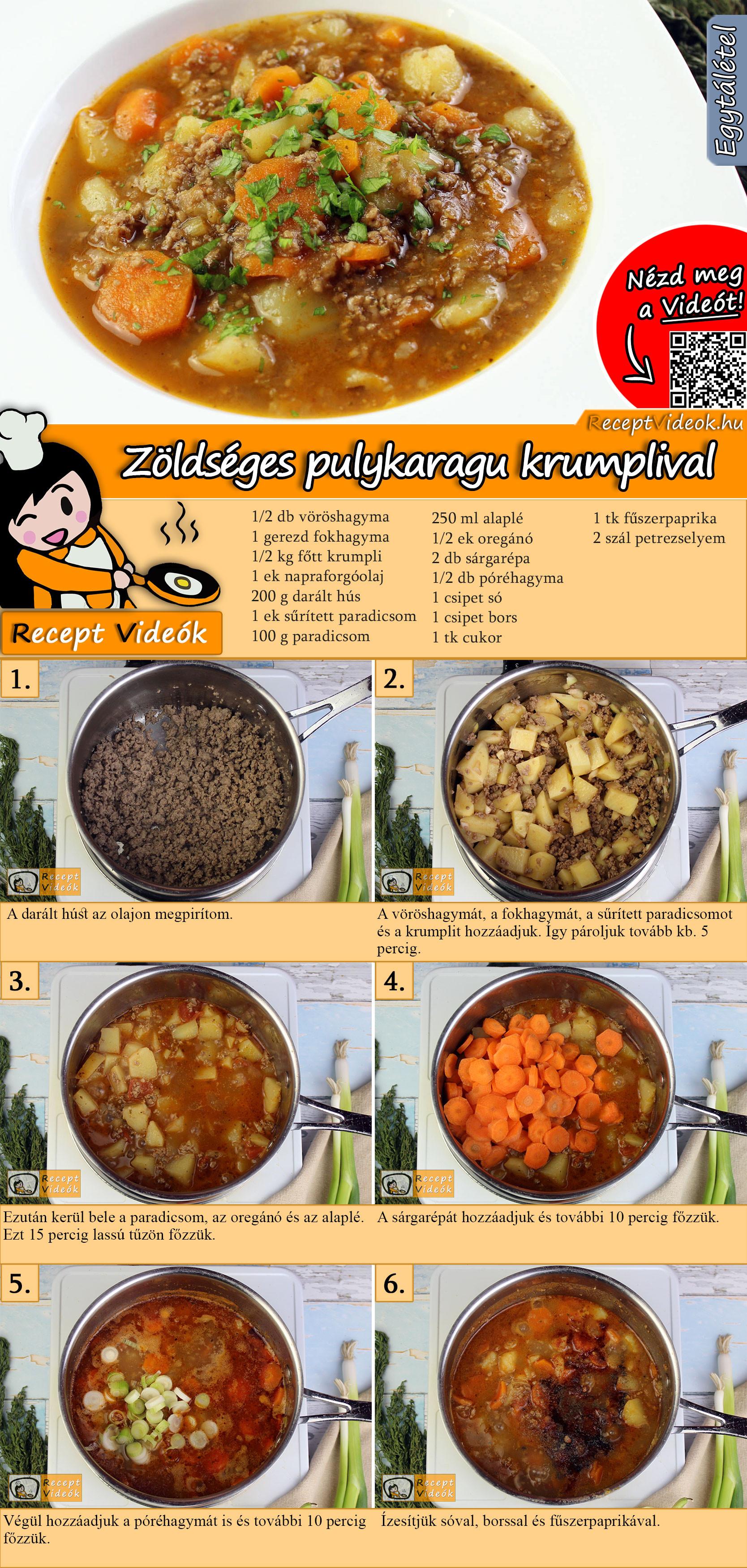 Zöldséges pulykaragu krumplival recept elkészítése videóval