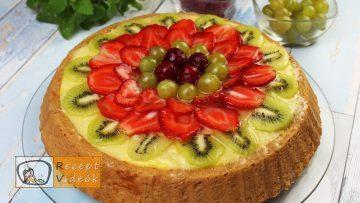 Gyümölcstorta recept, gyümölcstorta elkészítése - Recept Videók