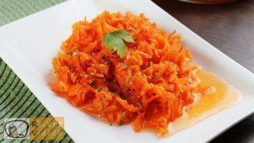 édes sárgarépasaláta recept elkészítése - Recept Videók