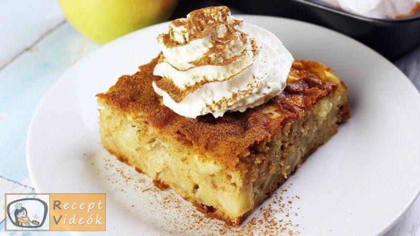 lapos almás pite recept, lapos almás pite elkészítése - Recept Videók