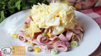 réteges saláta recept, réteges saláta elkészítése - Recept Videók