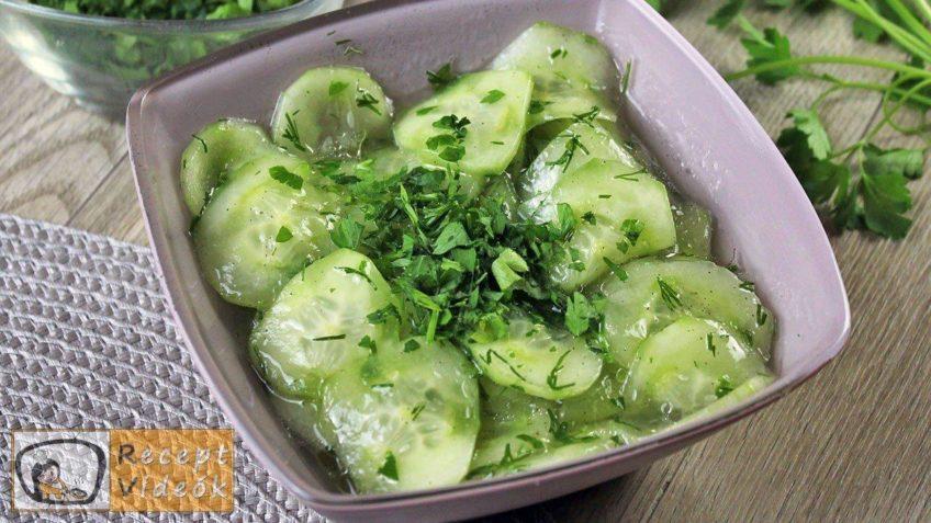 uborkasaláta recept, uborkasaláta elkészítése - Recept Videók