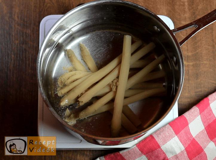 Spárgasaláta recept, spárgasaláta elkészítése 1. lépés