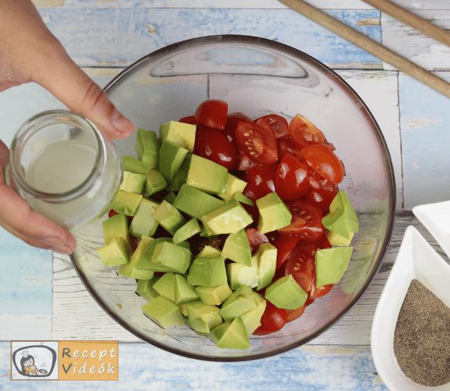 Avokádós-paradicsomos tészta recept, tészta elkészítése 2. lépés