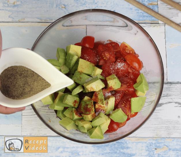 Avokádós-paradicsomos tészta recept, tészta elkészítése 3. lépés