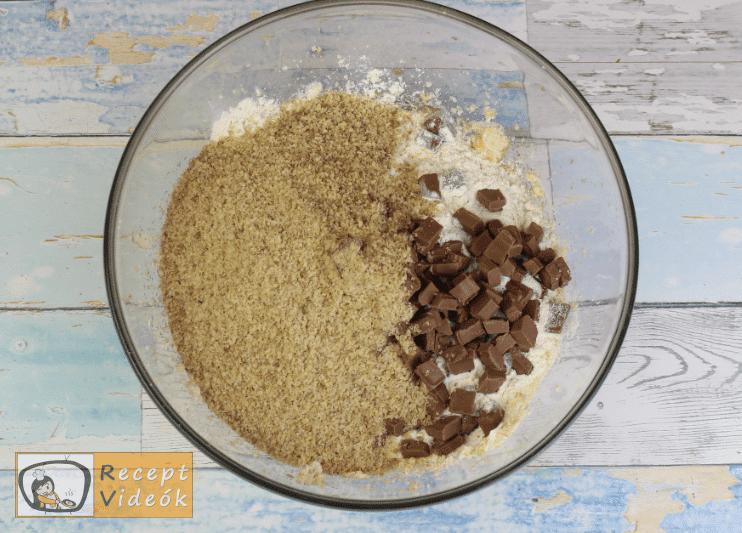 Amerikai csokis keksz recept, csokis keksz elkészítése 3. lépés