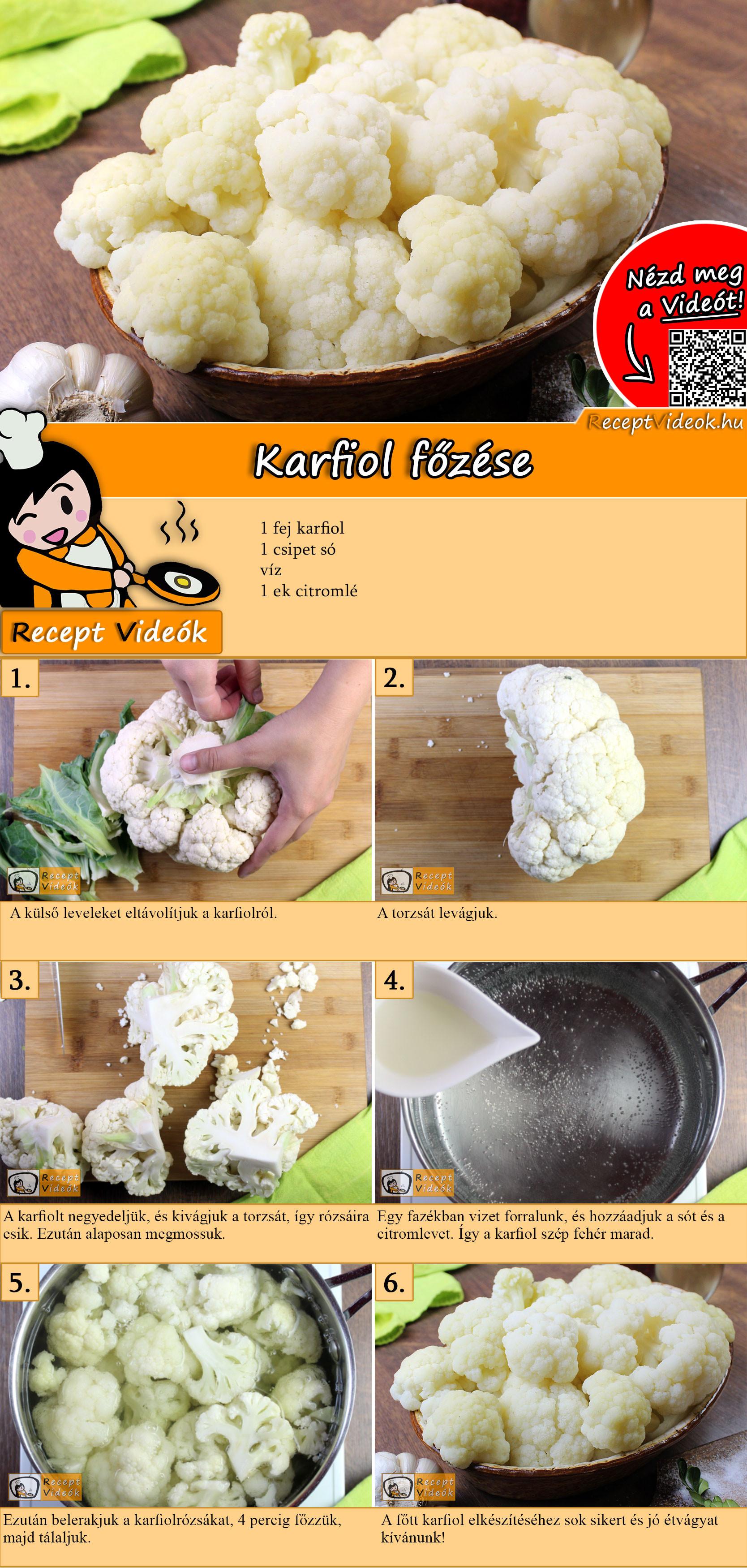 Karfiol főzése recept elkészítése videóval