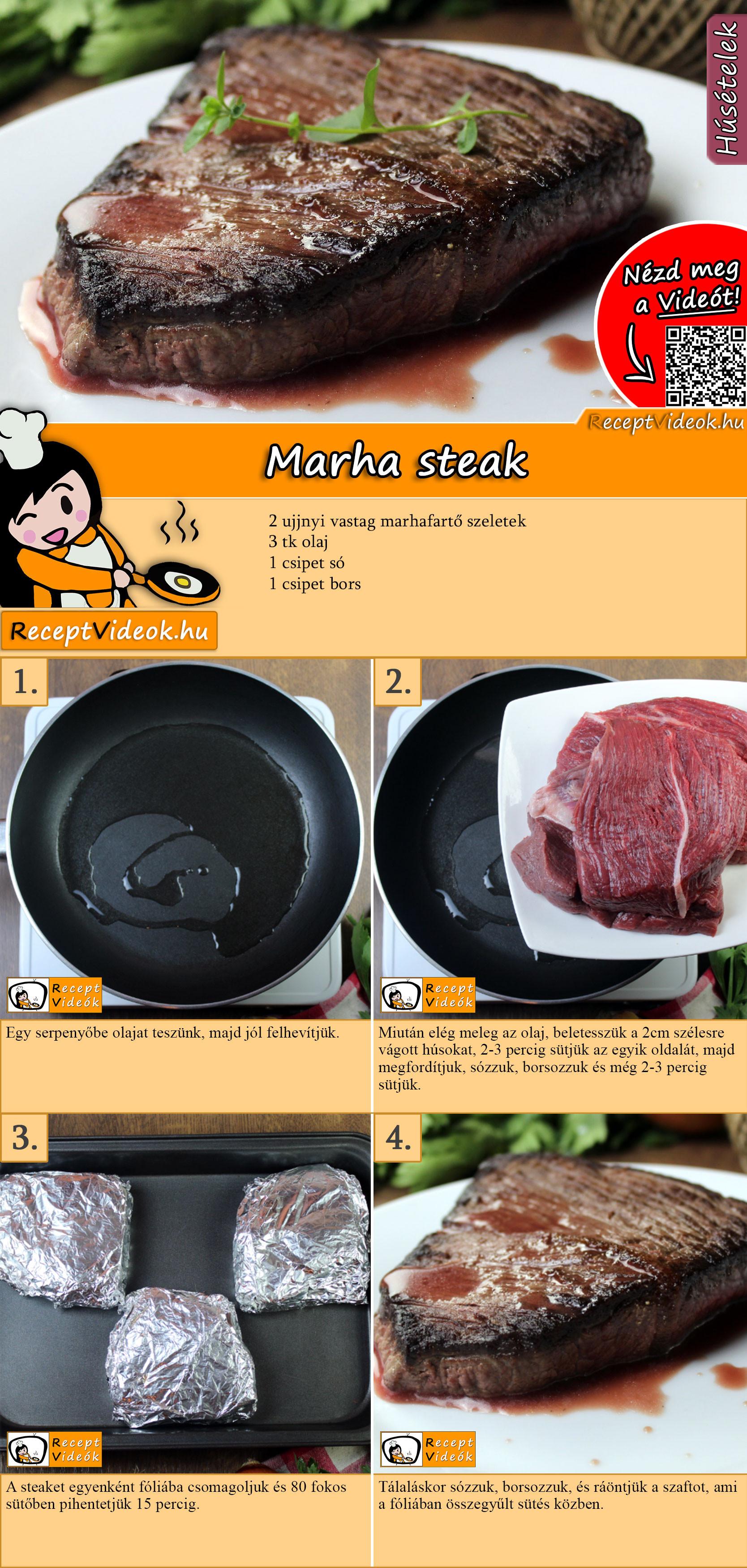 Marha steak recept elkészítése videóval