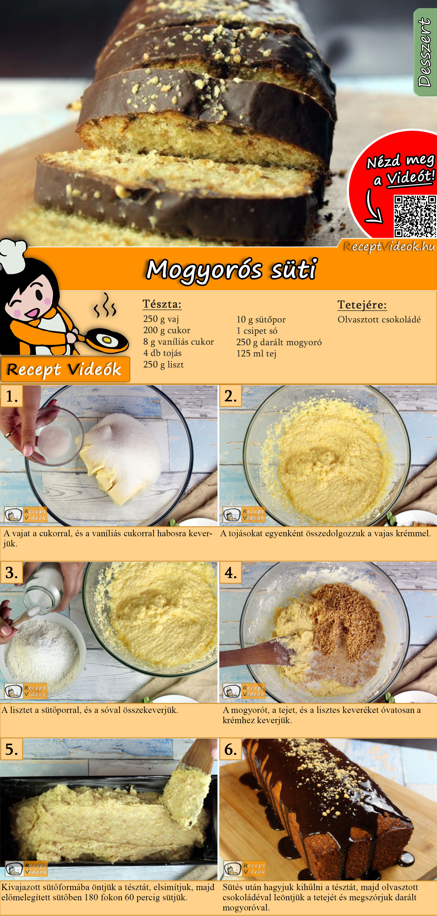 Mogyorós süti recept elkészítése videóval