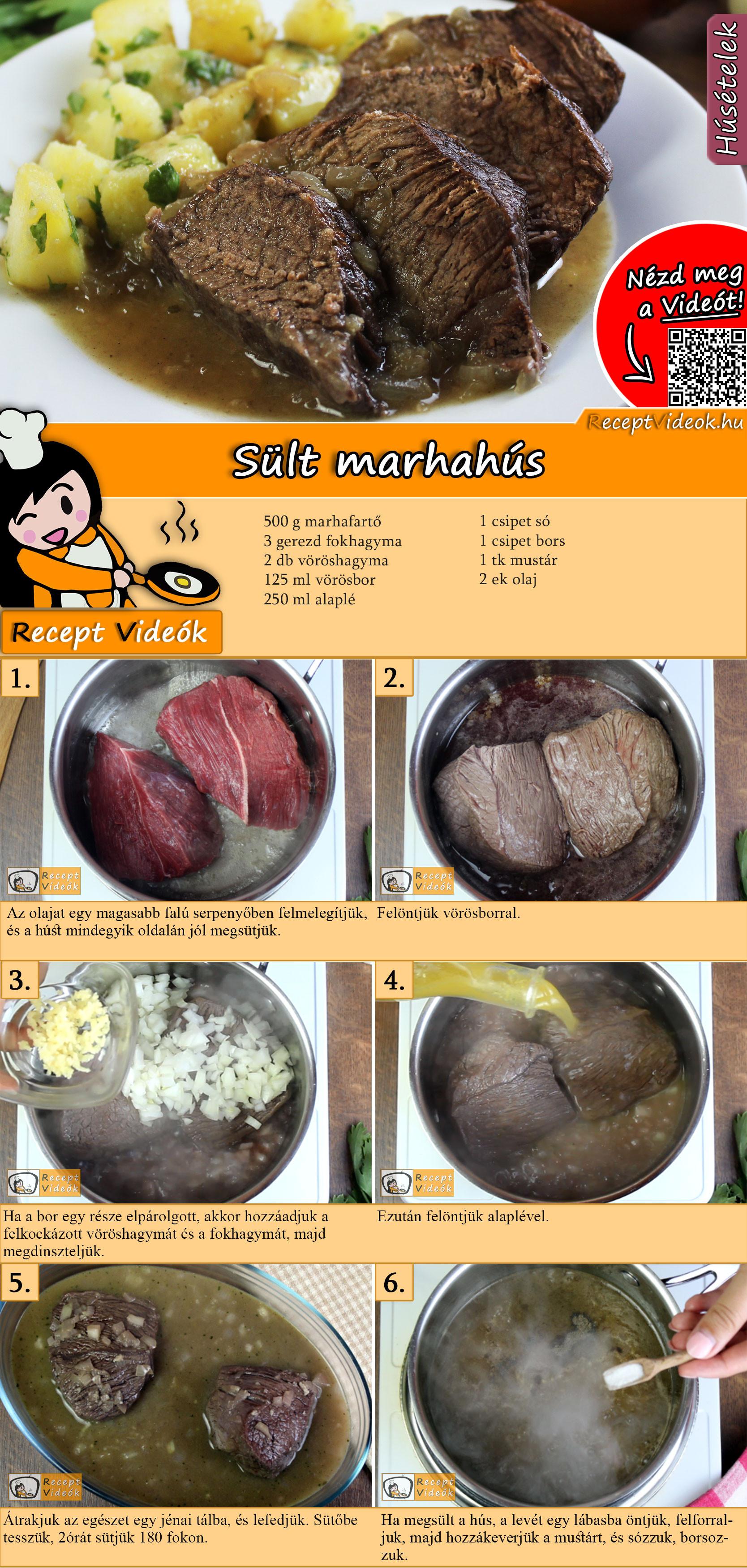 Sült marhahús recept elkészítése videóval