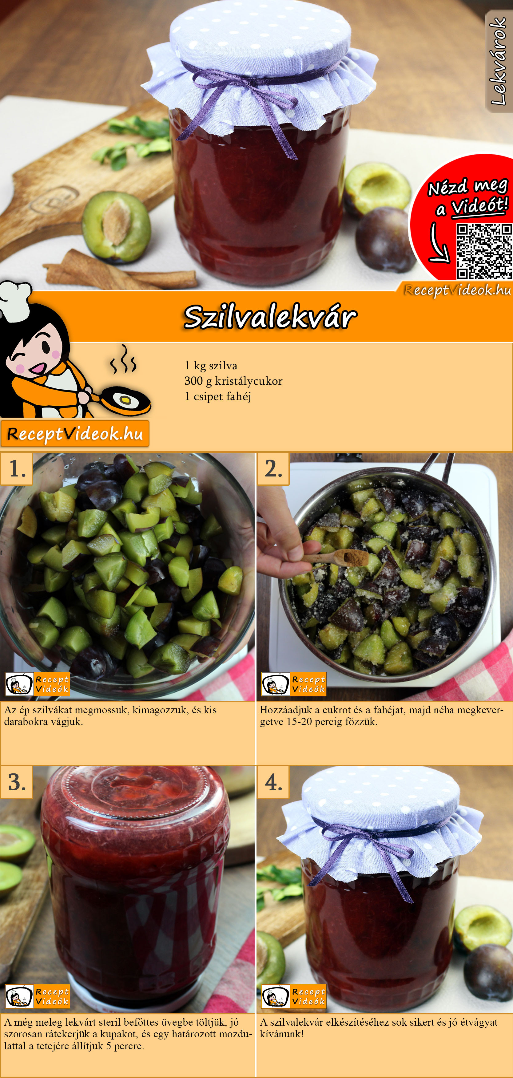 Szilvalekvár recept elkészítése videóval