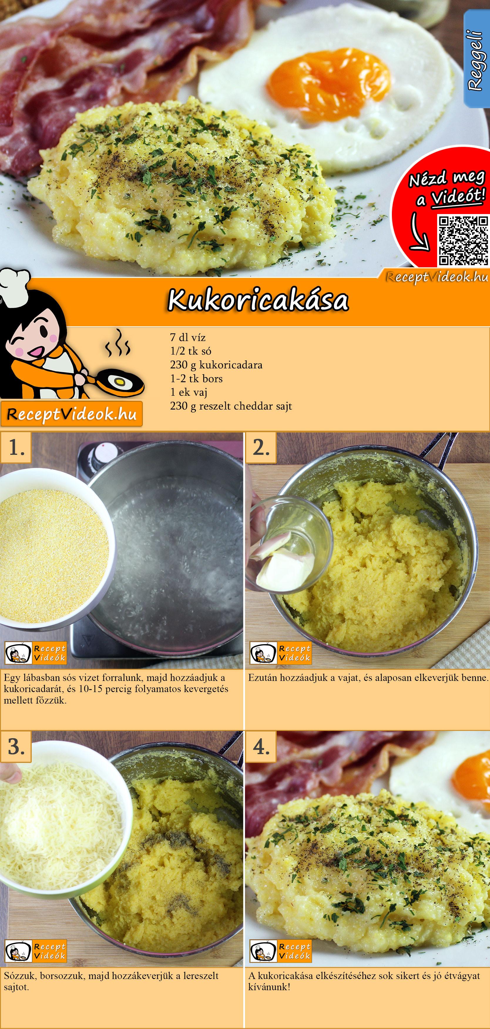 Kukoricakása recept elkészítése videóval