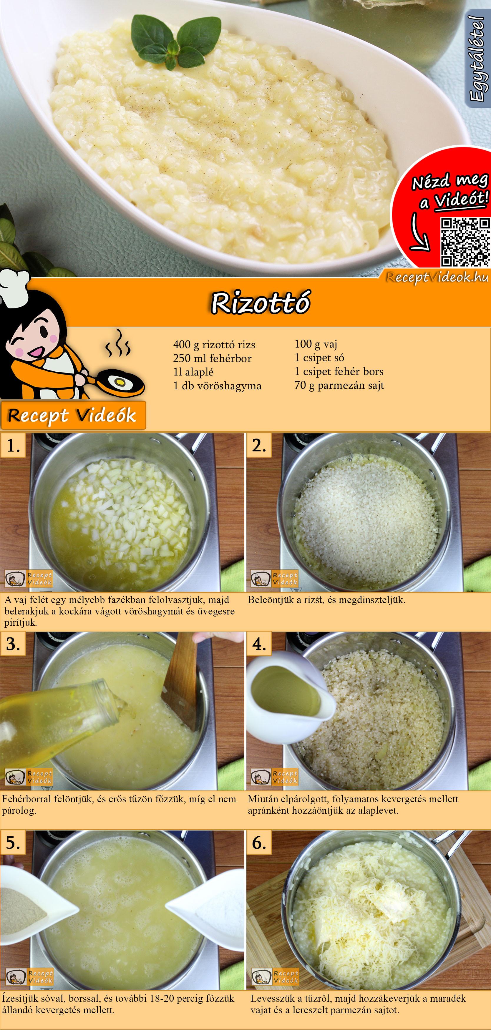 Rizottó recept elkészítése videóval