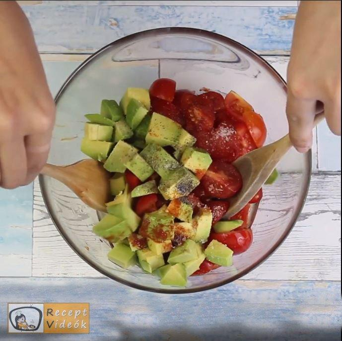 Avokádós-paradicsomos tészta recept, tészta elkészítése 4. lépés