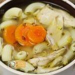 Sült csirke leves recept, sült csirke leves elkészítése - Recept Videók