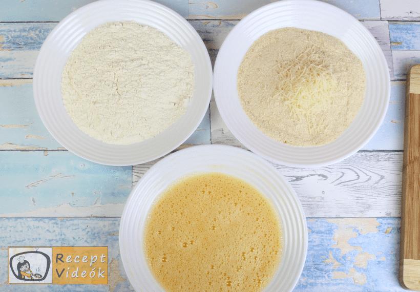 Parmezános csirke recept, parmezános csirke elkészítése 1. lépés