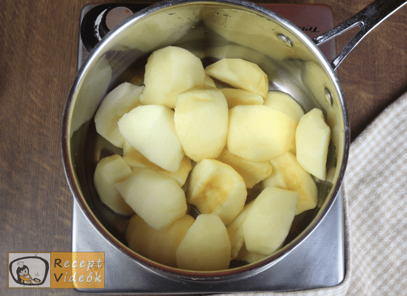 Almakompót recept, almakompót elkészítése 1. lépés