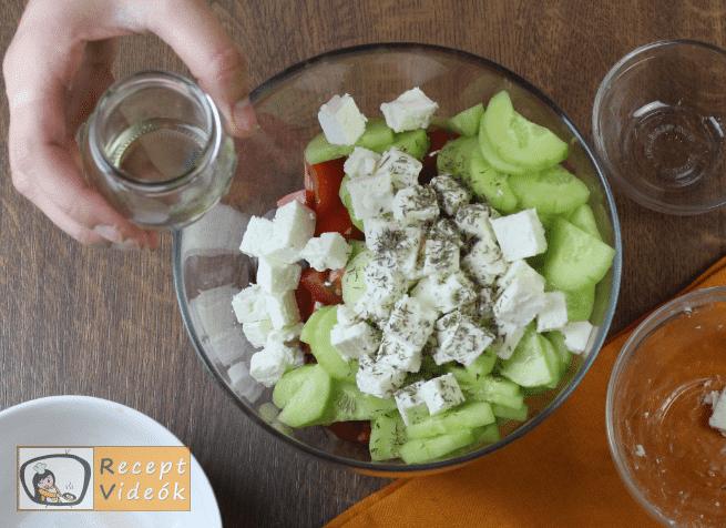 Görög saláta recept, görög saláta elkészítése 3. lépés