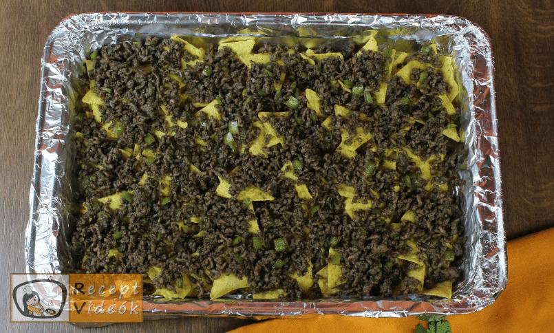 Marhahúsos nachos recept, marhahúsos nachos elkészítése 4. lépés