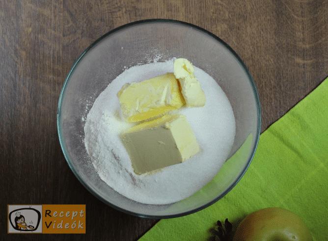Morzsás almatorta recept, morzsás almatorta elkészése 5. lépés