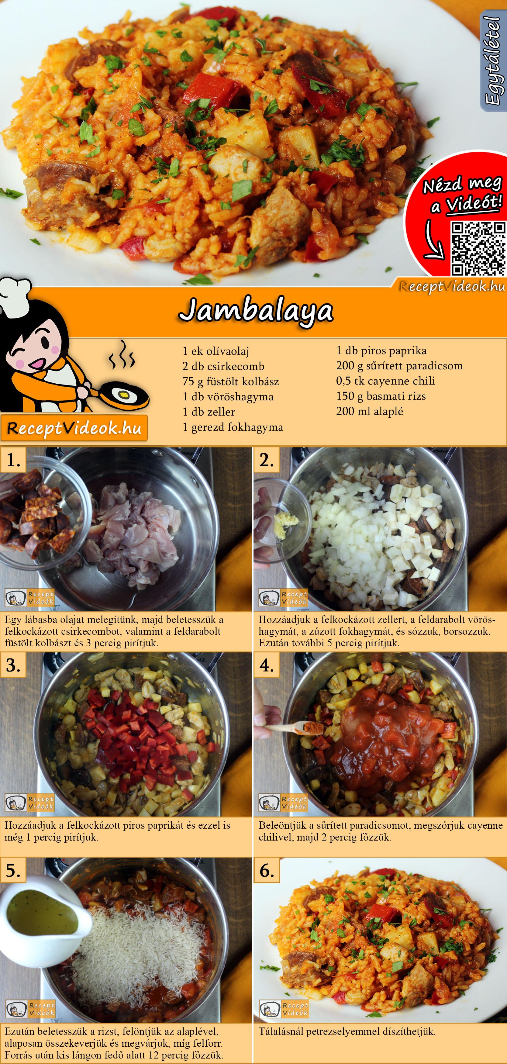 Jambalaya recept elkészítése videóval