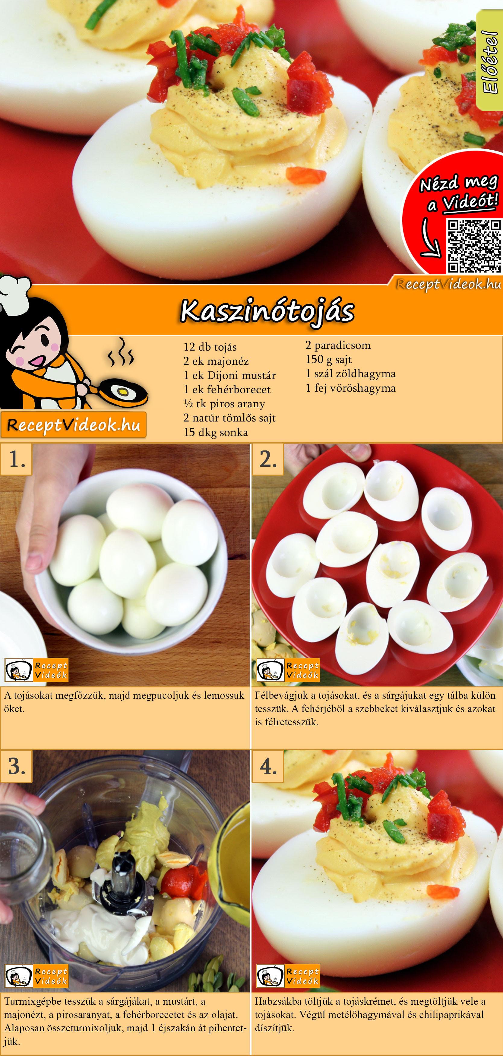 Kaszinótojás recept elkészítése videóval