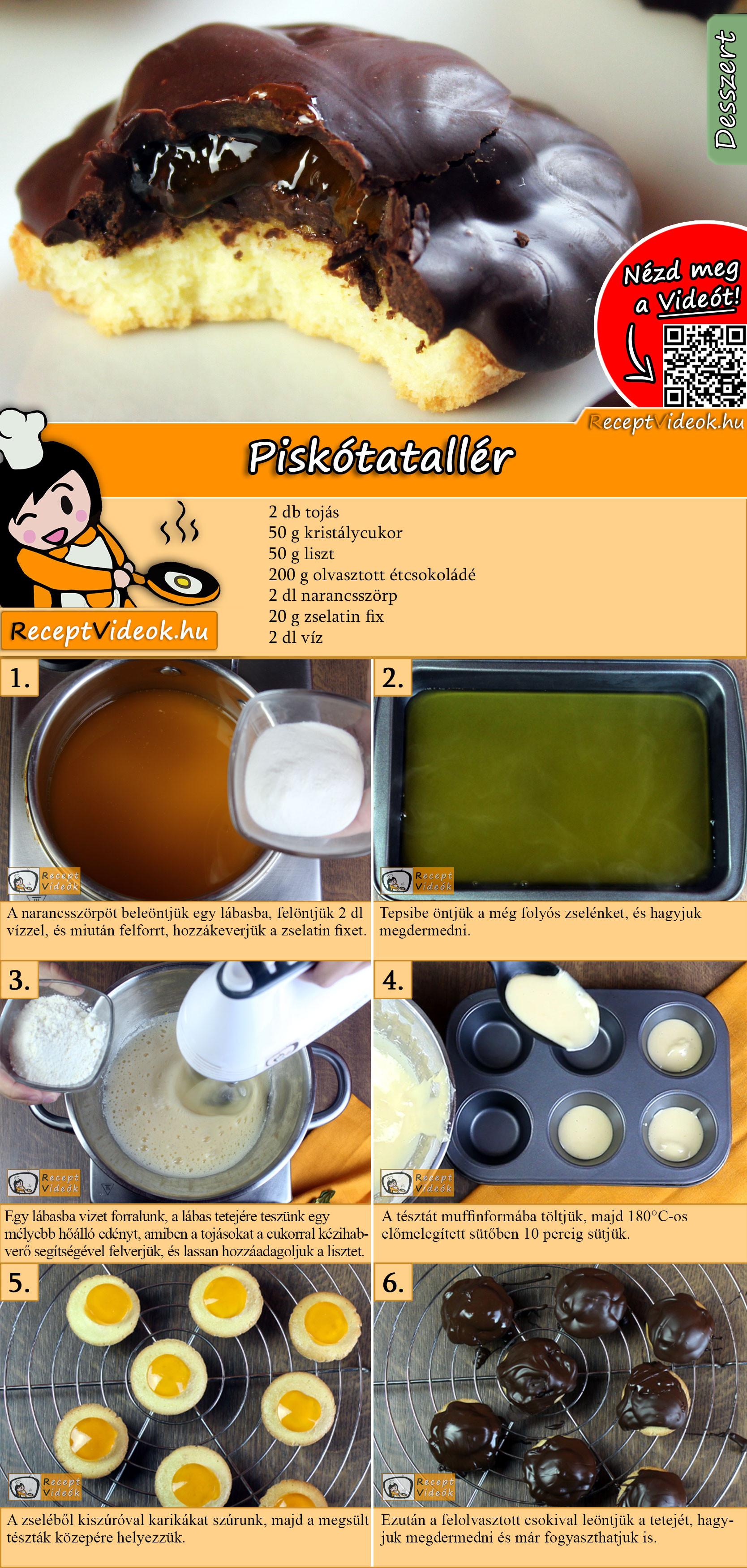Piskótatallér recept elkészítése videóval