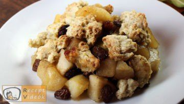 Almás crumble recept, almás crumble elkészítése - Recept Videók