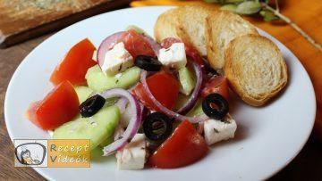 Görög saláta recept, görög saláta elkészítése - Recept Videók