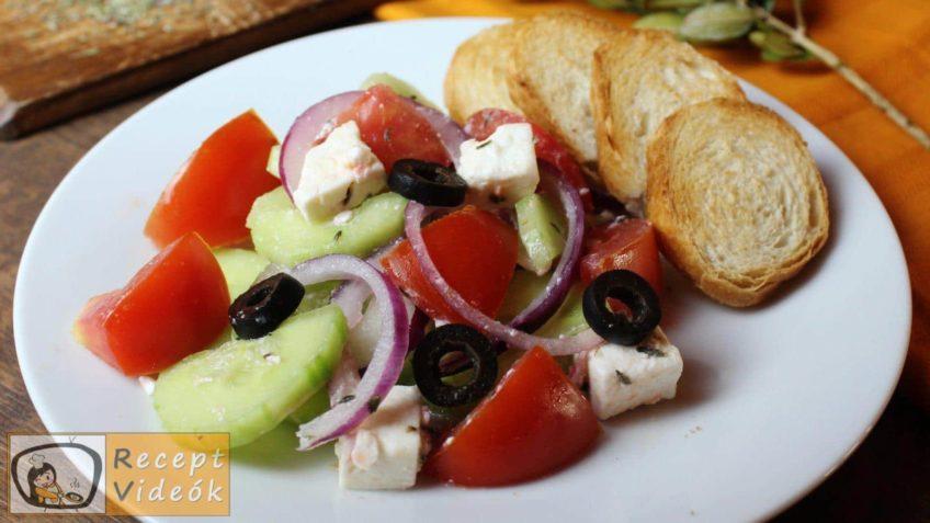 Görög saláta recept, görög saláta elkészítése 5. lépés