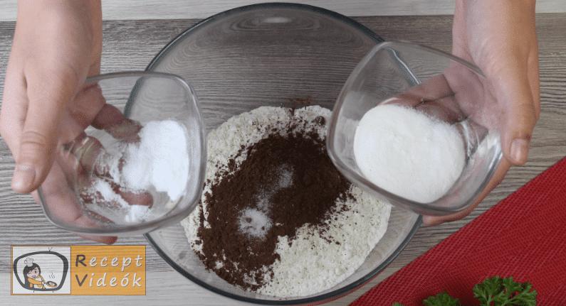 Vörös bársony torta recept, vörös bársony torta elkészítése 1. lépés