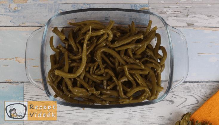 Zöldbab casserole recept, zöldbab casserole elkészítése 1. lépés