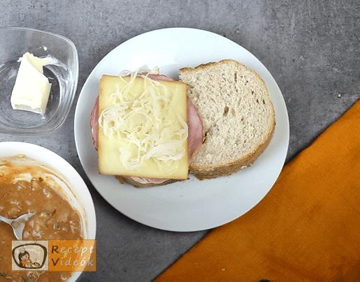Reuben szendvics recept, reuben szendvics elkészítése 3. lépés