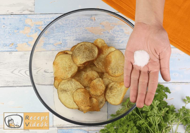 Chips recept, chips elkészítése 6. lépés