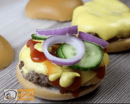 Amerikai sajtburger recept, amerikai sajtburger elkészítése 5. lépés