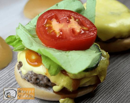 Amerikai sajtburger recept, amerikai sajtburger elkészítése 6. lépés
