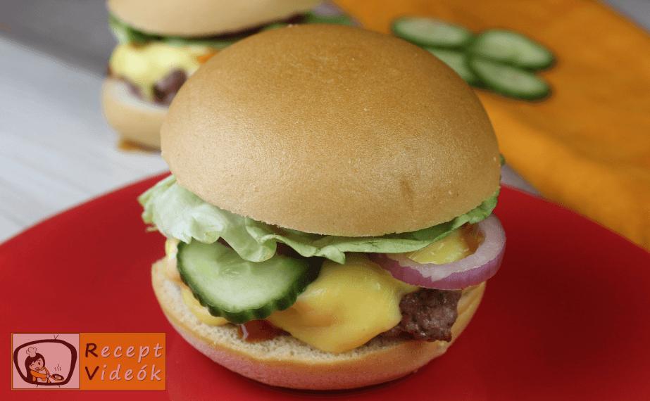 Amerikai sajtburger recept, amerikai sajtburger elkészítése 7. lépés