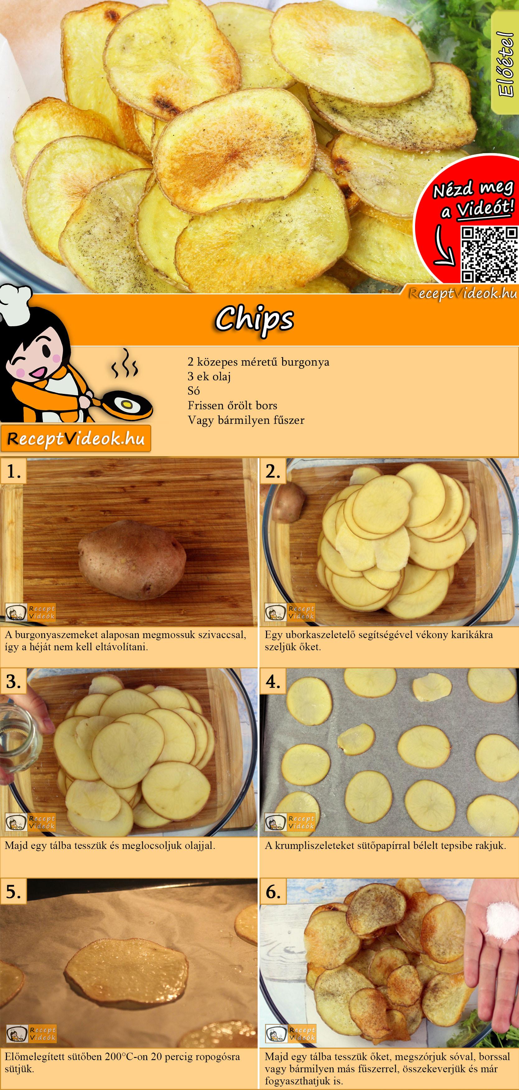 Chips recept elkészítése videóval