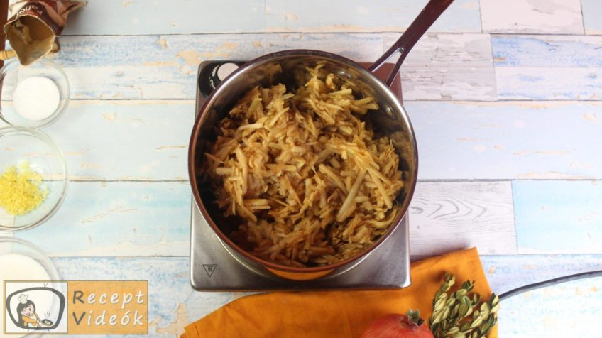 Almás-habos kocka recept, almás-habos kocka elkészítése 1. lépés