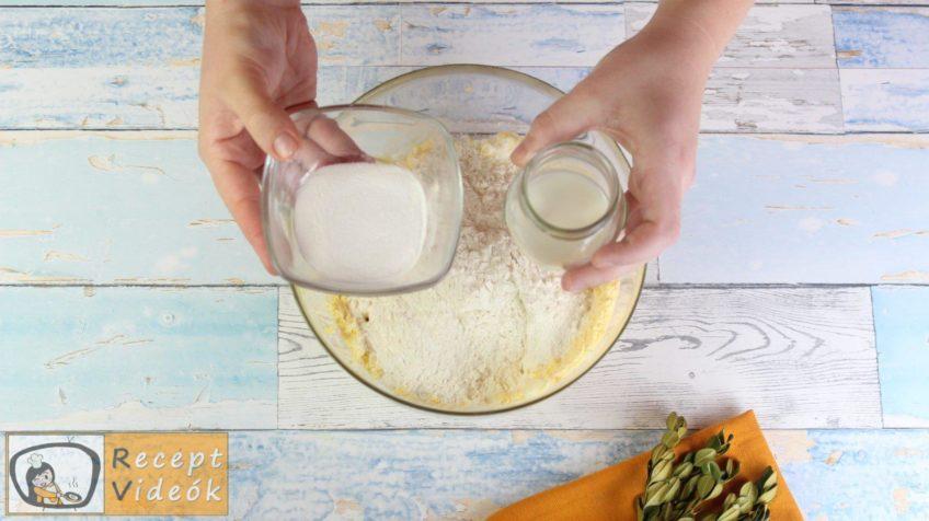 Almás-habos kocka recept, almás-habos kocka elkészítése 4. lépés