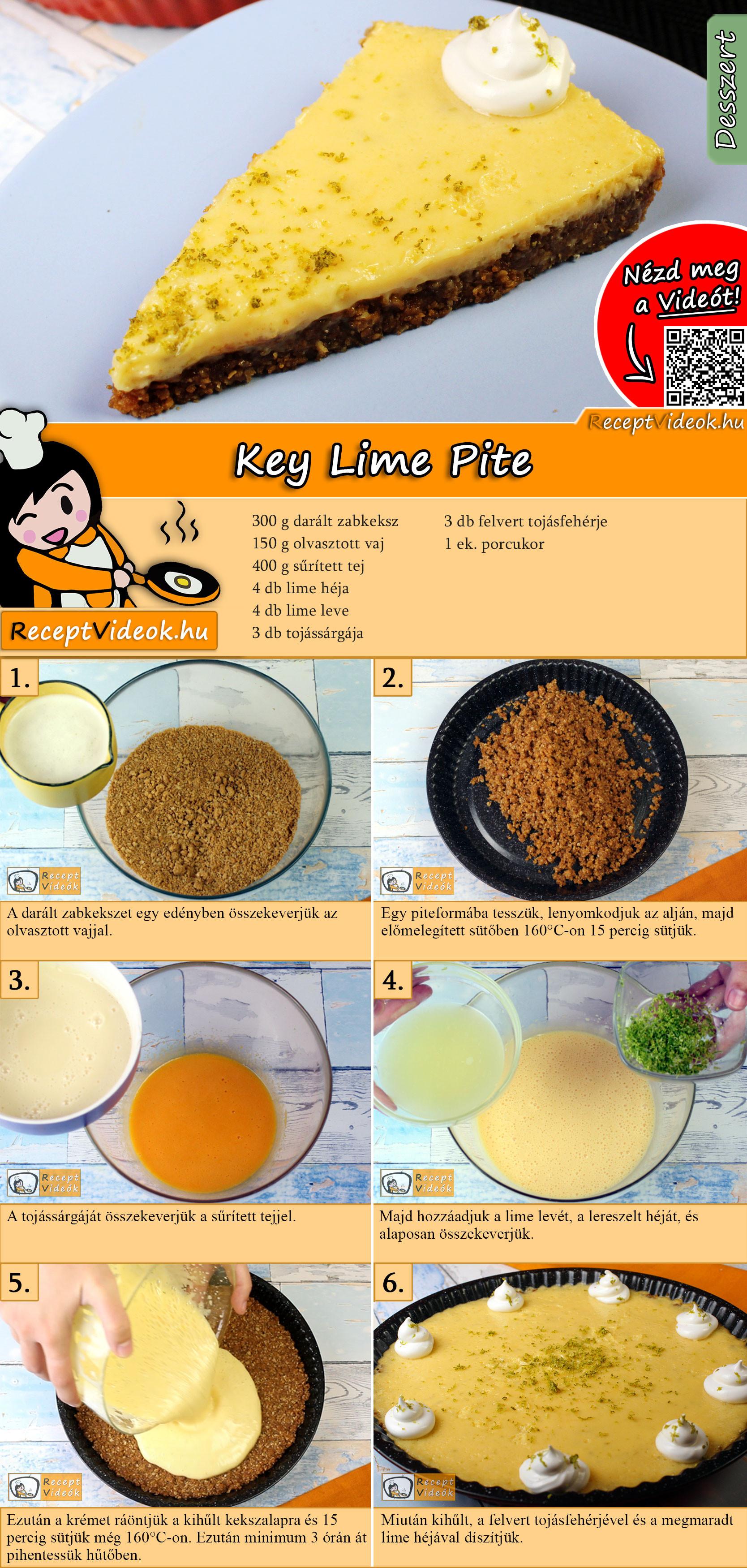 Key Lime Pite recept elkészítése videóval