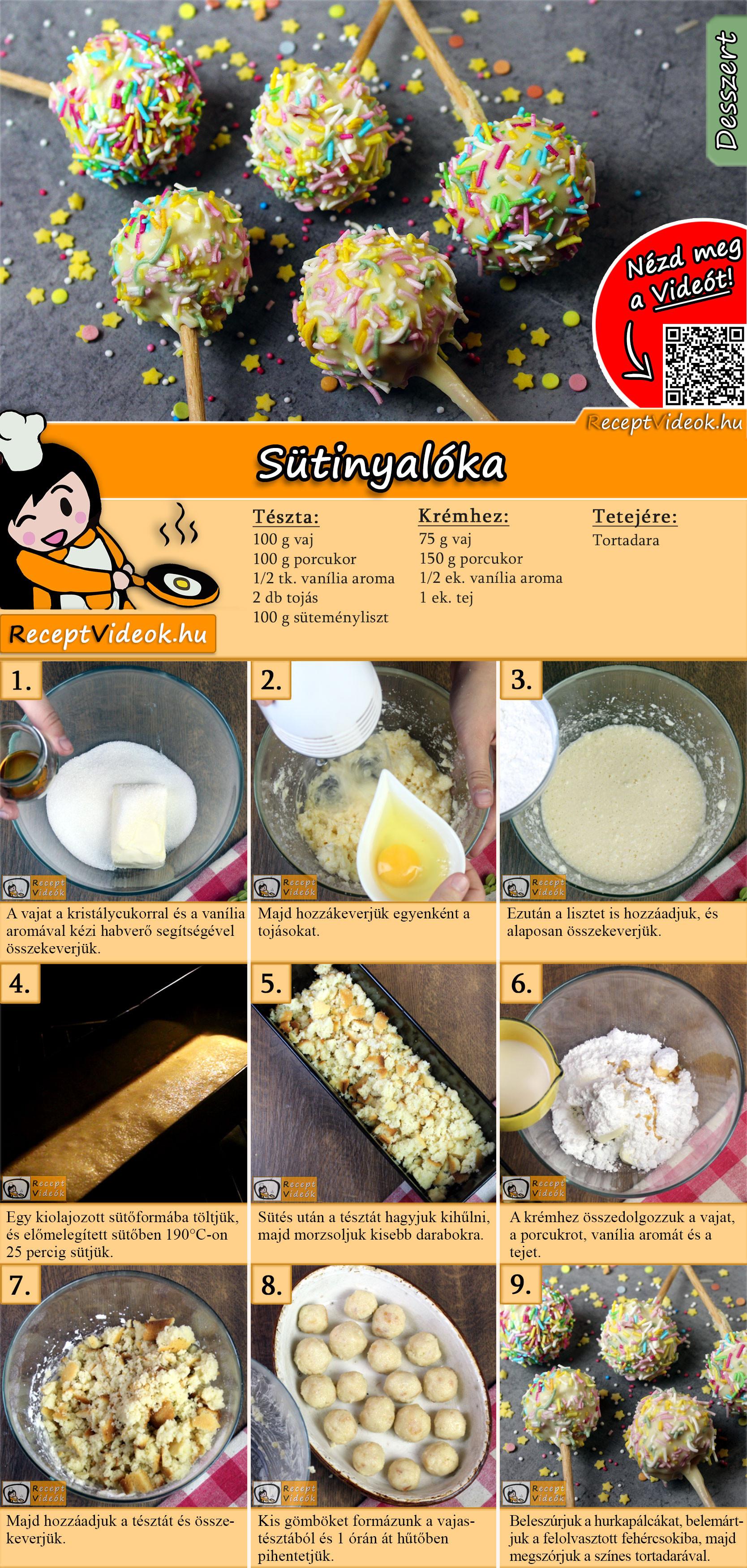 Sütinyalóka recept elkészítése videóval