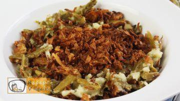 Zöldbab casserole recept, zöldbab casserole elkészítése - Recept Videók