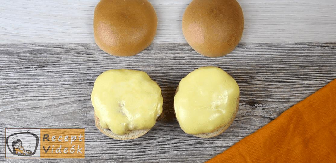 Amerikai sajtburger recept, amerikai sajtburger elkészítése 4. lépés