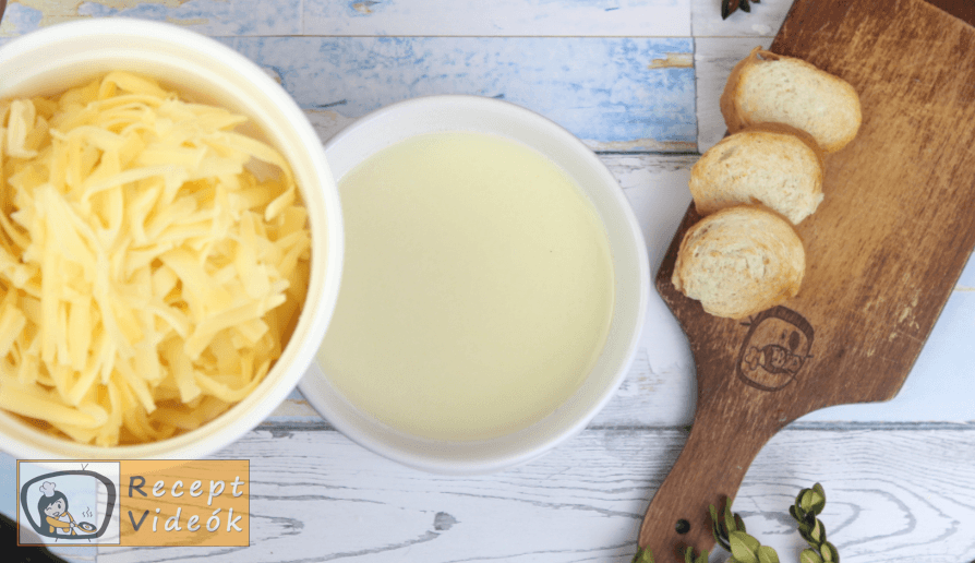 Sajtfondü (fondue) recept, sajtfondü (fondue) elkészítése 3. lépés